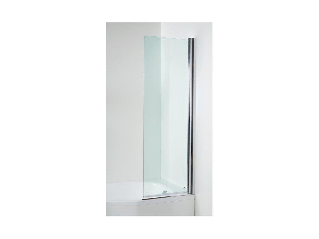 Vaňová zástena 150 cm TIGO Jika, sklo Transparent, Perla Glass