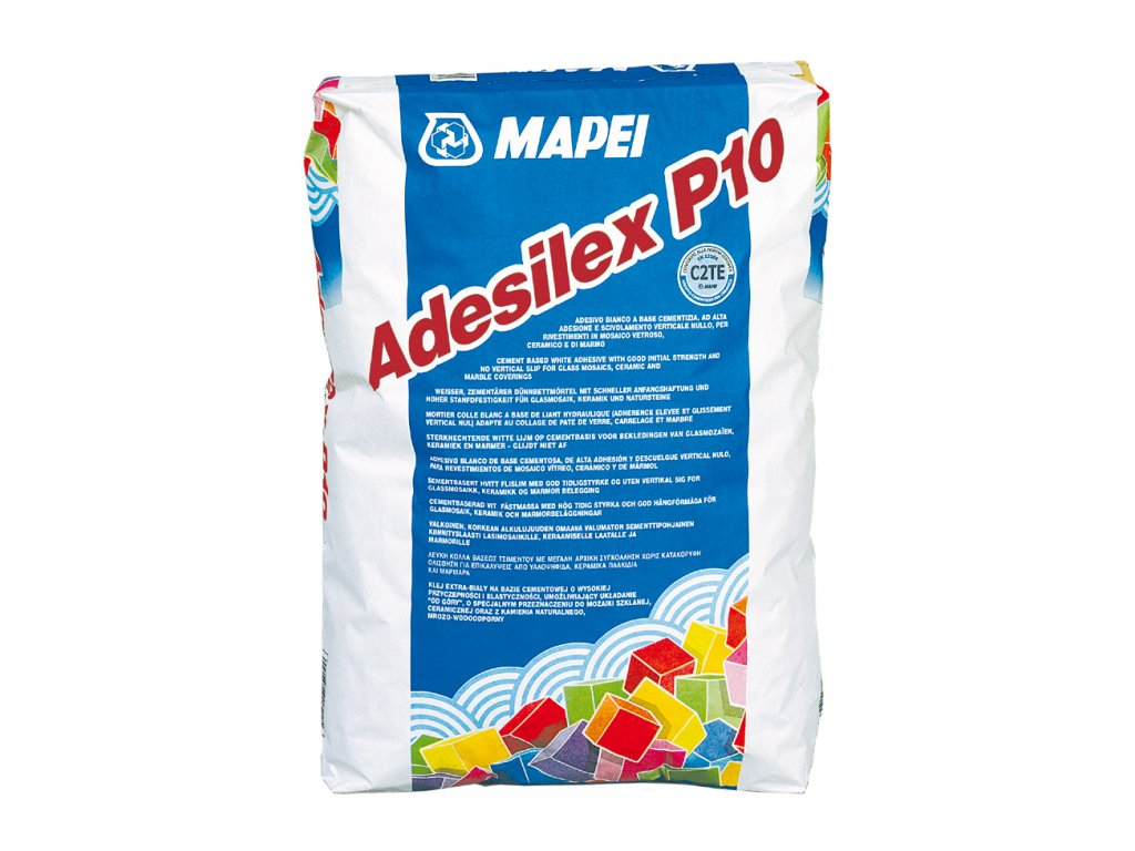 Cementové lepidlo  pre mozaiky ADESILEX P10 Mapei, biela, 25 kg