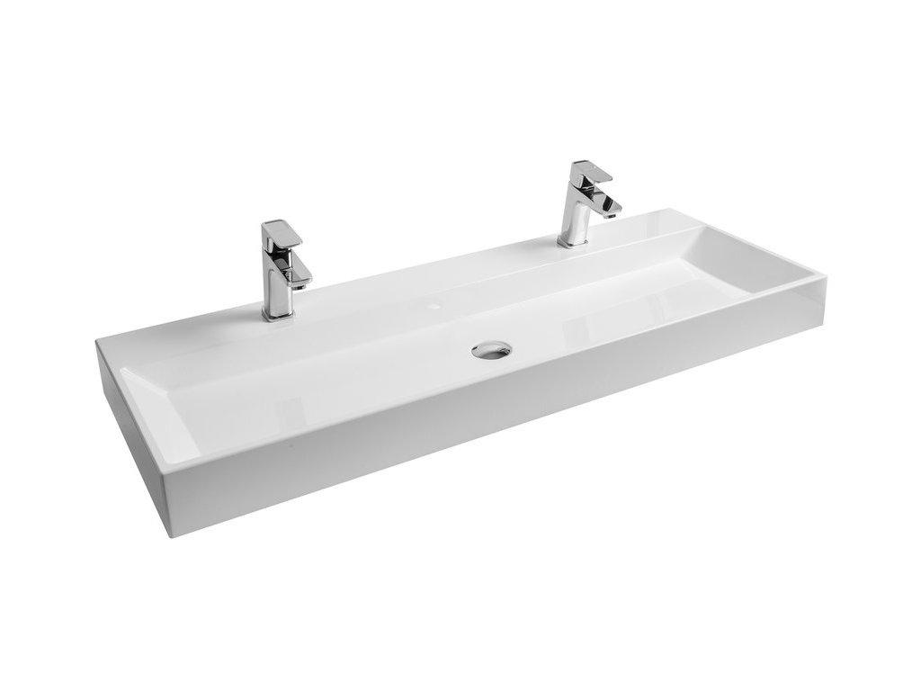 Umývadlo 120x45 cm NATURAL DUO Ravak, biela