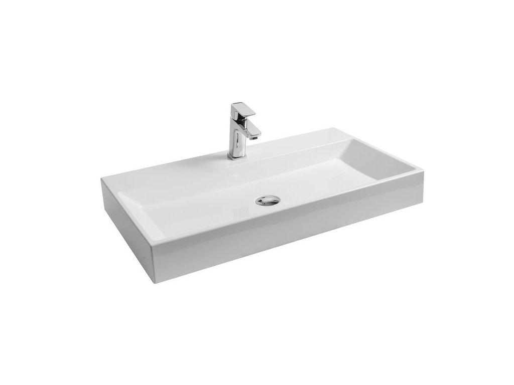 Umývadlo 80x45 cm NATURAL 800 Ravak, biela