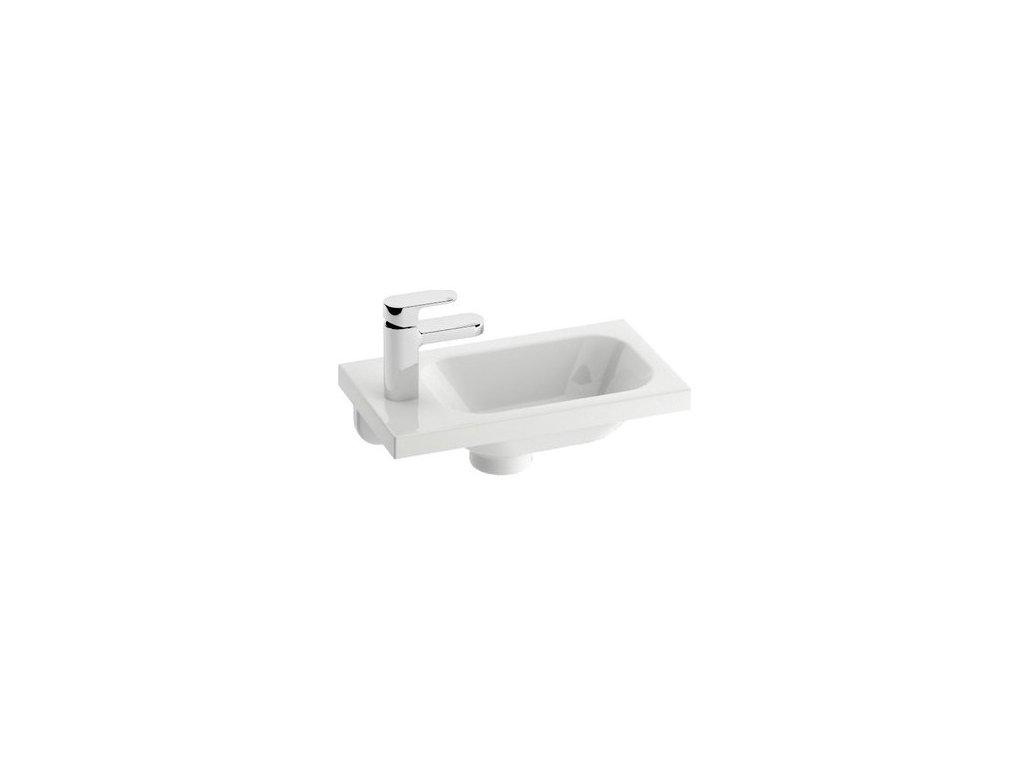 Umývadielko 40x22 cm CHROM Mini L Ravak, ľavé, biela