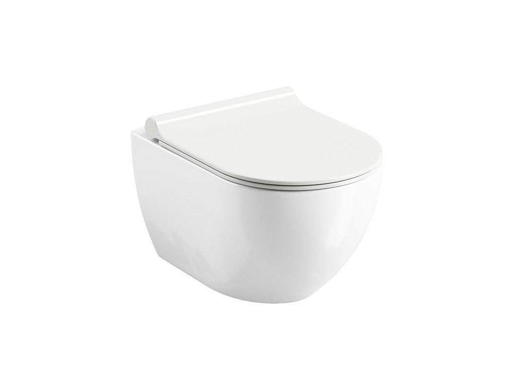 Závesná WC misa Uni CHROME RimOff Ravak, biela