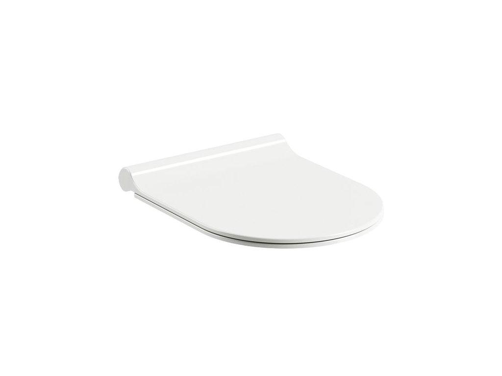 WC sedátko Uni CHROME Slim Ravak, biela
