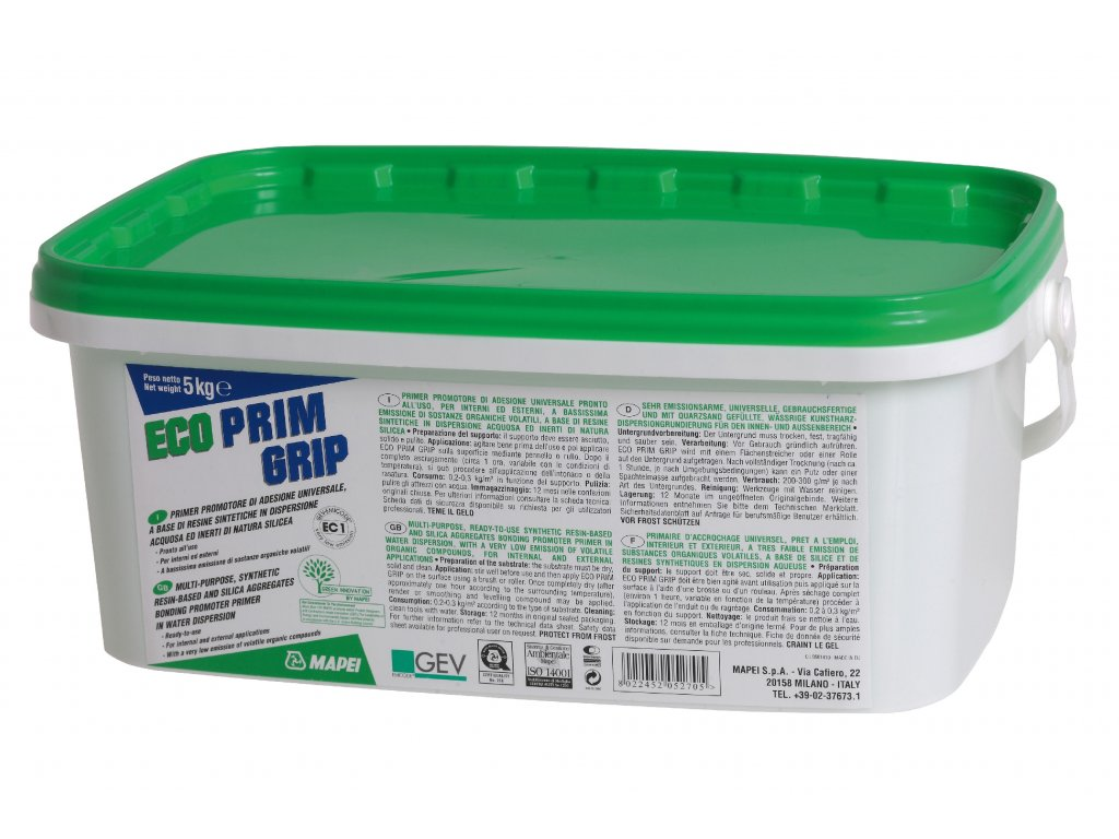 Viacúčelový primer ECO PRIM GRIP Mapei, 5 kg