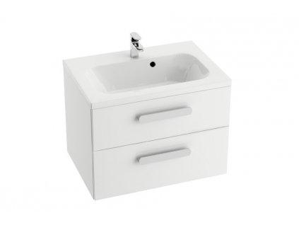 Skrínka pod umývadlo SD 600 CHROME II Ravak, biela/biela