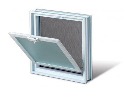 Vetracie okno 38x38 cm, plastové, biela