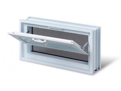 Vetracie okno 38x19 cm, plastové, biela