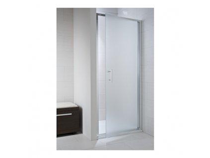 Sprchové dvere 90 cm CUBITO PURE Jika, strieborný profil