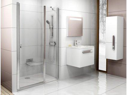 Sprchové dvere dvojdielne CSD2-120 CHROME Ravak, sklo Transparent, chróm