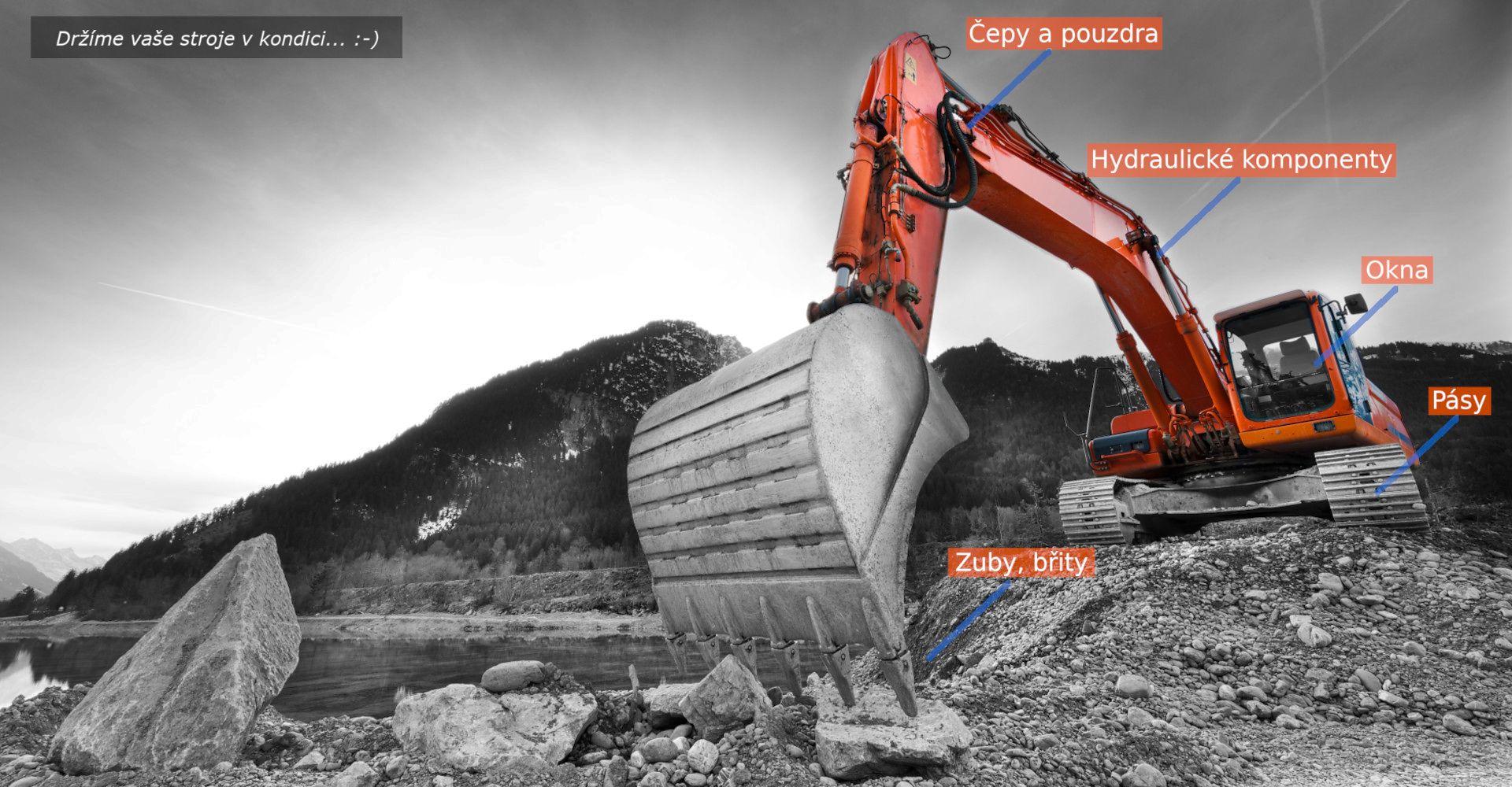 Náhradní díly pro stavební stroje