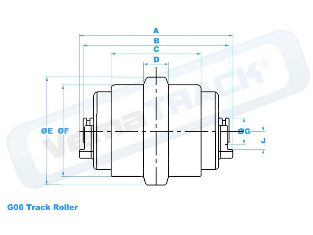 pojezdova kladka CAT 234-6206 track roller
