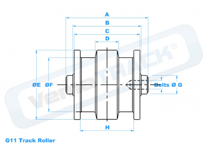 pojezdova kladka TAKEUCHI TB016 track roller