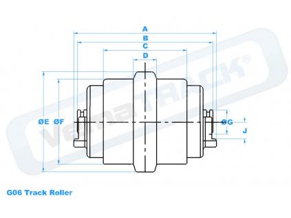 pojezdova kladka CAT 232-4466 track roller