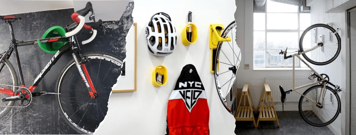 Designové držáky na kola na stěnu za rám nebo pedál CYCLOC