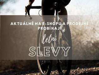 Letní výprodej cyklistické oblečení, helem a doplňků značek ALÉ, CASTELLI, ISADORE, MALOJA, FOX, POC, ETAPE, CRAFT, UVEX, DOTOUT, NORTHWAVE, MAVIC a dětského cyklo oblečení