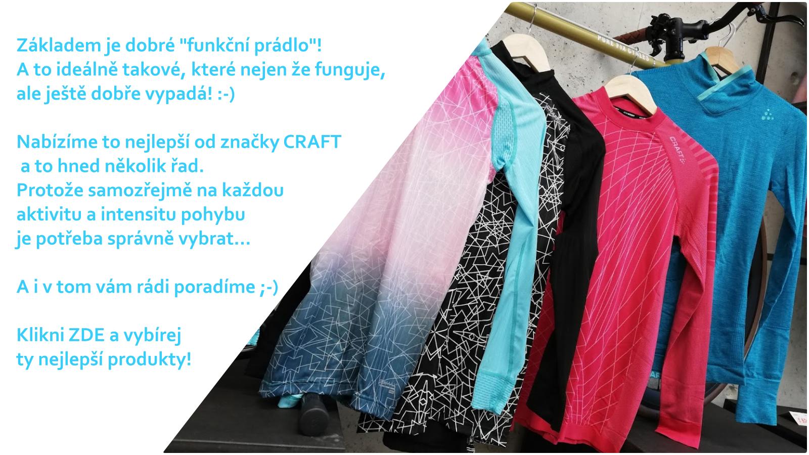 Široká nabídka funkčního prádla CRAFT