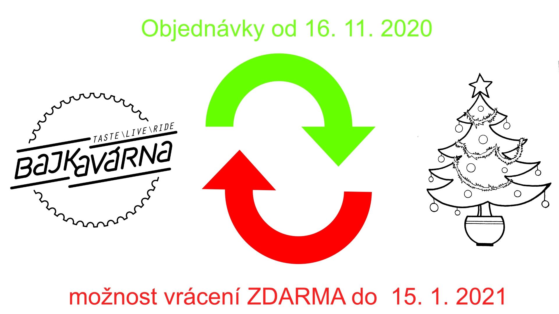 Možnost vrácení zboží do 10. ledna 2020