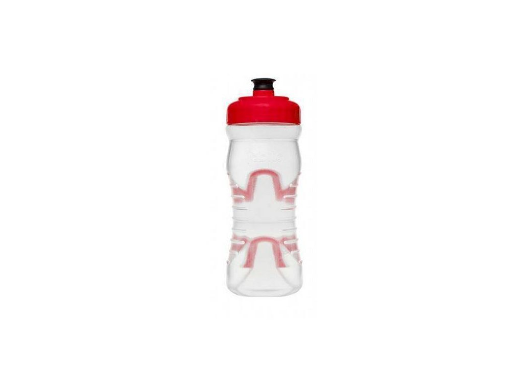 2019 FABRIC LÁHEV 600ml CLEAR/RED CAP (FP4016U0522) Množ. Uni