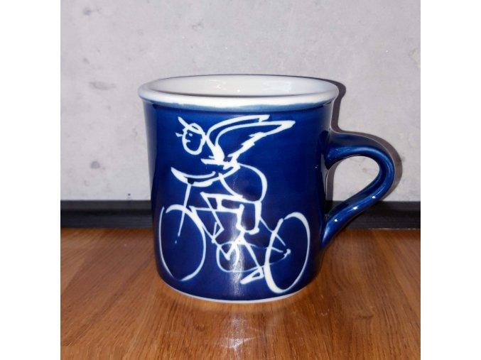 Cyklistický hrnek na kávu / čaj 450 ml (cyklistický anděl strážný)