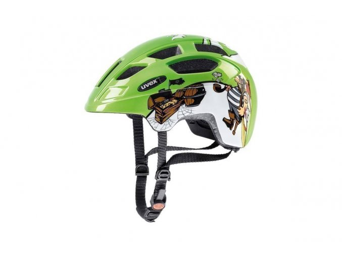 19 UVEX HELMA FINALE JUNIOR LED, GREEN PIRATE (48-52)