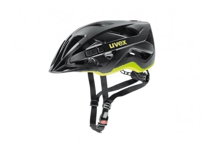 19 UVEX HELMA ACTIVE CC, BLACK-YELLOW MAT 52-57