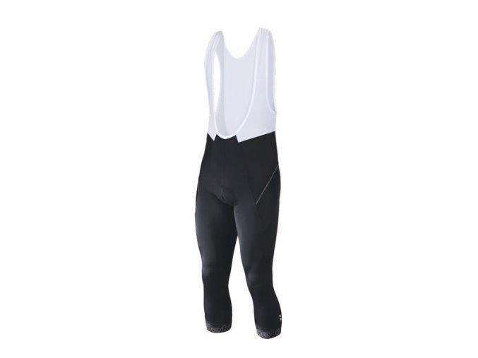 Etape - pánské kalhoty PROFI LACL 3/4 s vložkou, černá/bílá