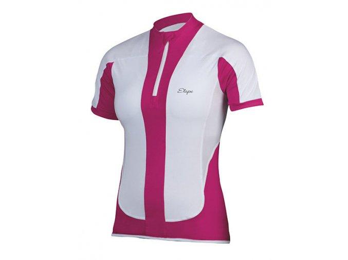 Etape - dámský dres FORTUNA, bílá/růžová