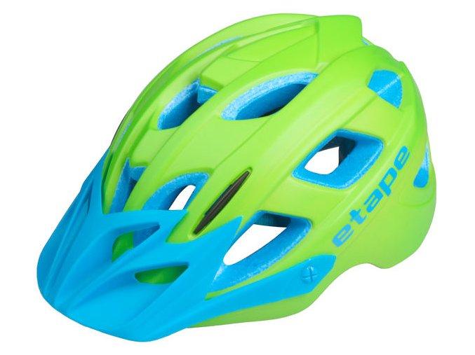 Etape - dětská přilba na kolo JOKER, zelená/modrá matná