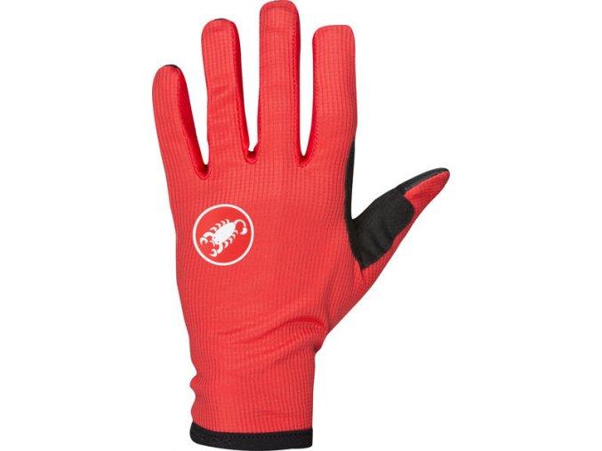 Castelli - pánské rukavice Scudo, red/black
