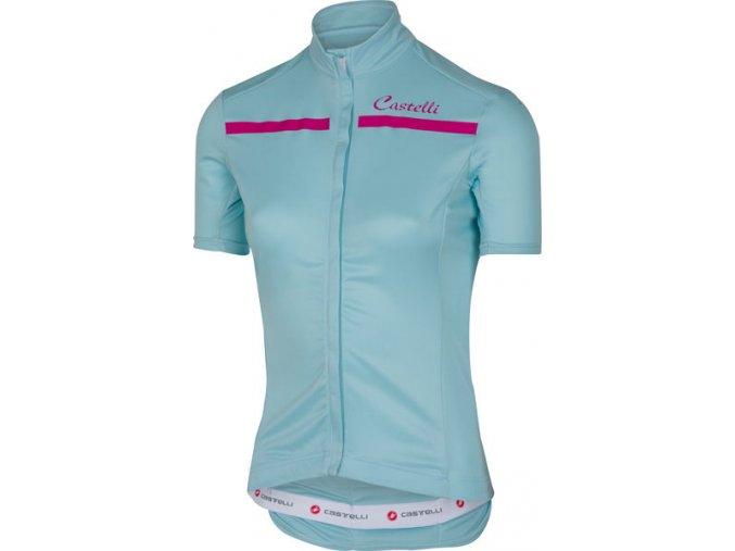 Castelli - dámský dres Imprevisto, pale blue/raspberry