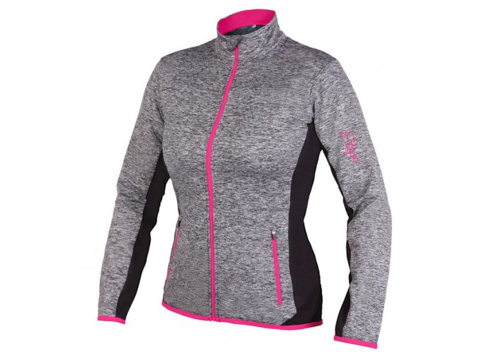 Etape - dámský dres LISSA, šedá melír/růžová