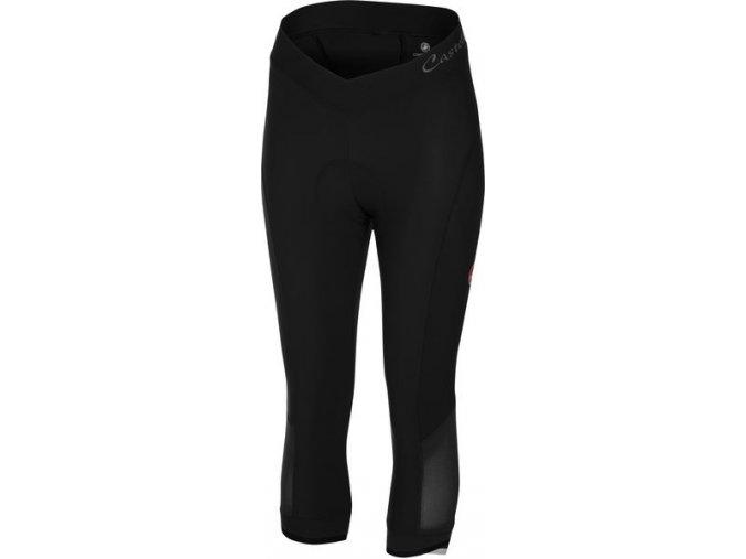 Castelli - dámské kalhoty Vista 3/4 s vložkou, black