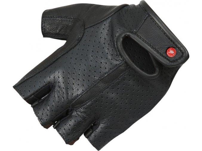Castelli - pánské kožené rukavice Maestro, black