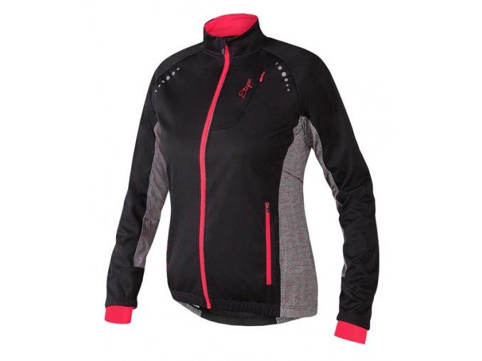 Etape - dámská zimní bunda FUTURA WS, černá/granatina