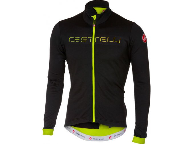 Castelli - pánský dres Fondo FZ, light black/yellow fluo