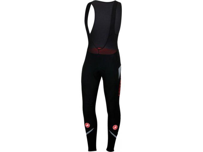 Castelli - pánské kalhoty Polare 2 s vložkou, black/reflex