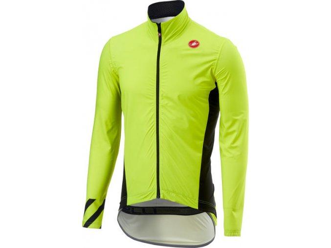 Castelli - pánská bunda Pro Fit Light, yellow fluo