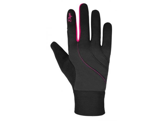 Etape - dámské rukavice AMBER WS+, černá/růžová