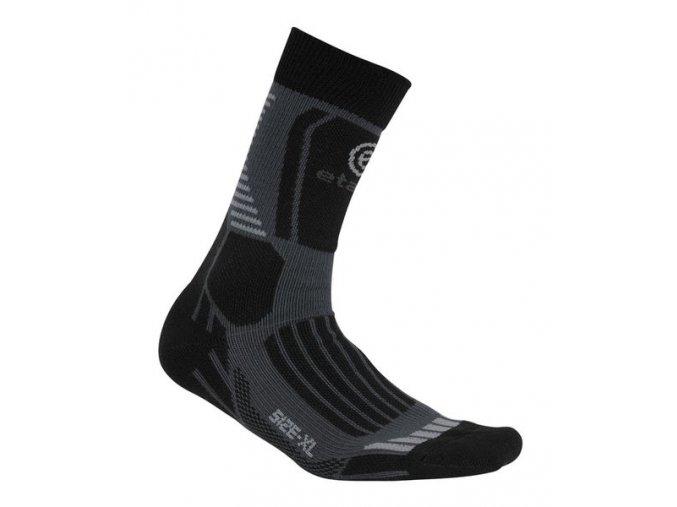 Etape - ponožky CROSS, černá/šedá