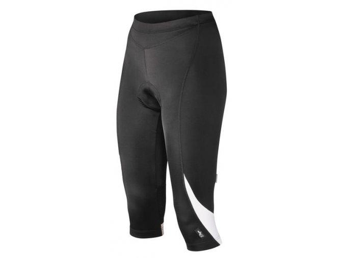 Etape - dámské kalhoty NATTY 3/4 s vložkou, černá/bílá