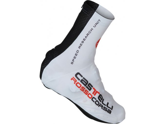 Castelli - návleky na tretry Aero Race, white