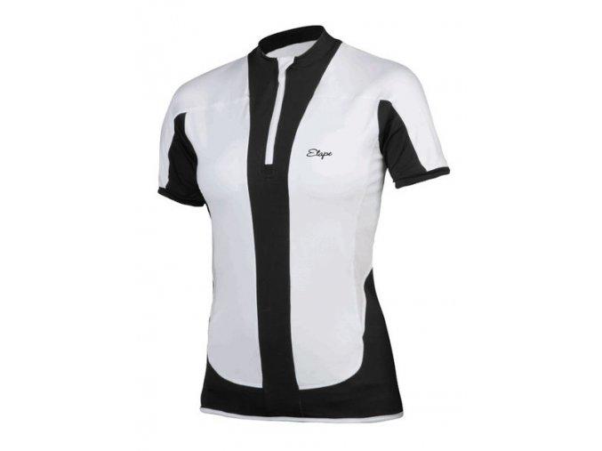 Etape - dámský dres FORTUNA, bílá/černá