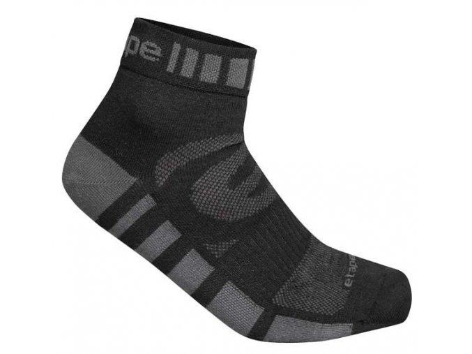Etape - ponožky FEET, černá/antracit