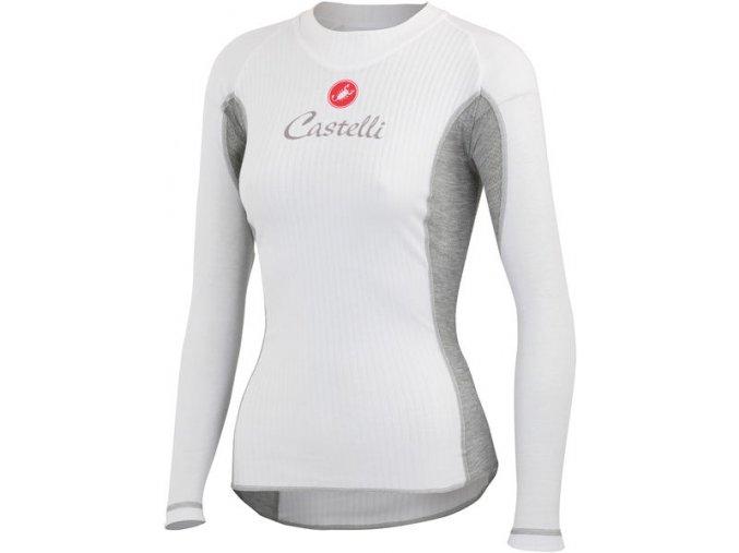 Castelli - dámské funkční prádlo Flanders Warm LS, white