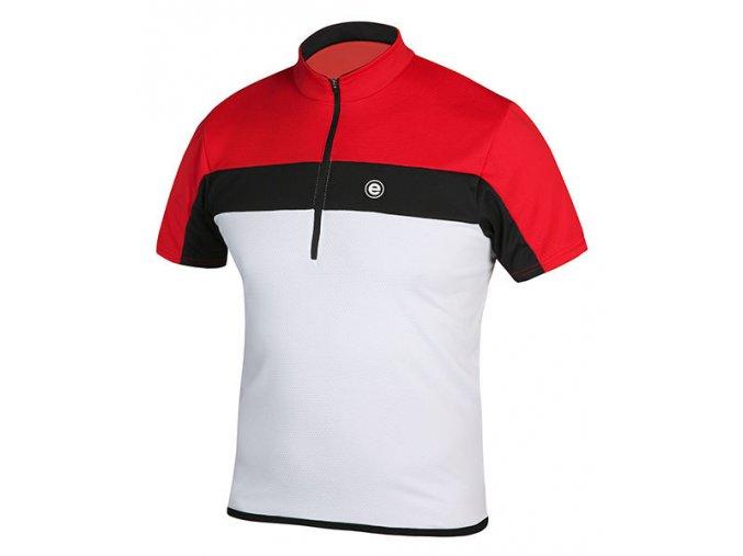 Etape - pánský dres FACE, bílá/červená