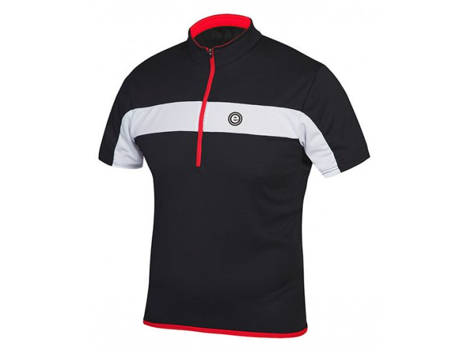 Etape - pánský dres FACE, černá/bílá