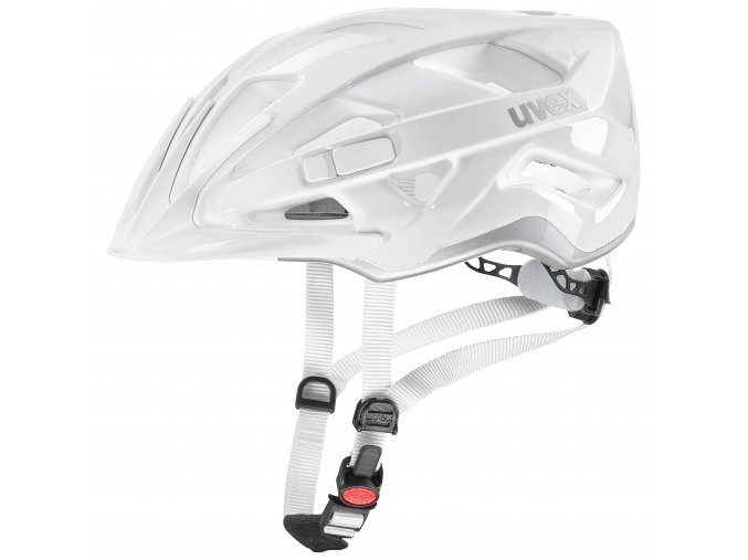 19 UVEX HELMA ACTIVE, WHITE SILVER 52-57