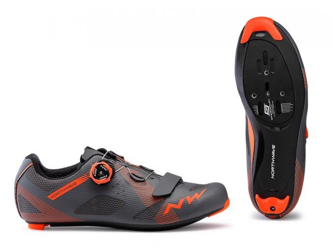 Cyklotretry NORTHWAVE Storm Anthra/Lobster Orange