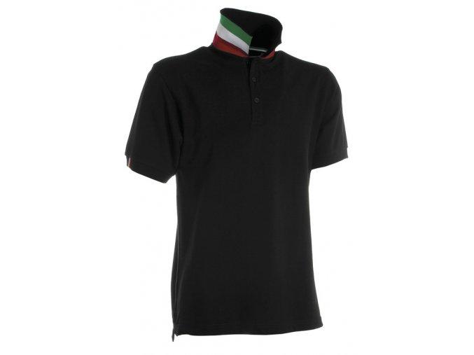 Polo tričko pánské s italskou trikolorou
