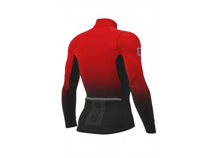 Zimní cyklistický dres ALÉ pánský MAGLIA M/L DOTS DWR